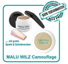 Camouflage Cream Farb No. 12 Von Malu Wilz mit Spatel und Schwämmchen