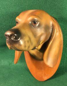 Vintage Hound Beagle Dog Head Plaque Thoroughbred RENFREW Studios Buffalo NY