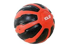 Gymenist Rubber Medicine Ball With Textured Grip, 10 lb