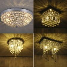 Crystal LED Ceiling Light Crystal Chandelier Modern Flush Mount Light Fixture US
