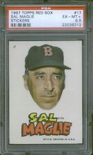 1967 Topps Red Sox Test Stickers 17 Sal Maglie PSA 6.5 (8312)