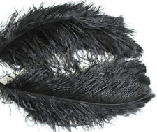 "1 pc of 20-22"" Black Ostrich Drab Plume Feather for Bouquet Millinery Headband"