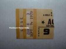 AC/DC 1979 Concert Ticket Stub SAN DIEGO Sports Arena BON SCOTT Mega Rare AC-DC