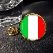 Italian Italy Flag Round Lapel Pin Badge Gift