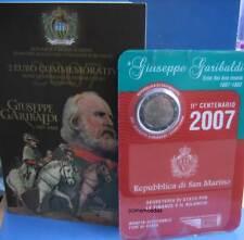 San Marino 2 Euro 2007 Garibaldi CoinCard Münzkarte Euromünze commemorative coin