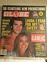 Globe Magazine 1985 March 19 RAQUEL WELCH LORENZO LAMAS LINDA EVANS