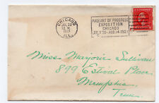 1921 US SC #532 Schermack Co vending machine stamp cover Chicago Expo ID #902