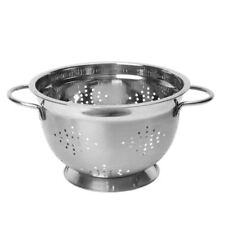 Dexam Stainless Steel Twin Handled Footed Colander Strainer 22 cm 17851161