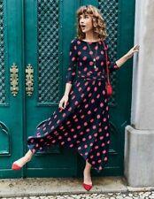 Boden Kleid - Maisie Jersey Midi Dress - Jerseykleid  Geblümt NEU - UK 8  EU 36