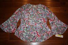 Wrangler Women's Floral Peplum Blouse Shirt Size Small NWT