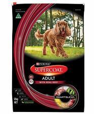 12kg Bag Purina Supercoat Adult Dog Food With Real Beef Smartblend