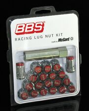 REAL BBS RED SPLINE DRIVE LUG NUT SET 12X1.50  {20 LUGS} FOR HONDA & ACURA