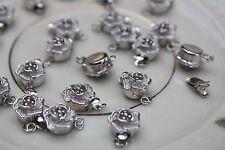 1xStk Verschluß Verbinder Verschlüsse Halskette Perlenkette Schließe 925Silber