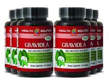 Brain Booster Supplements - GRAVIOLA 650mg - Graviola Leaf Capsules 6B
