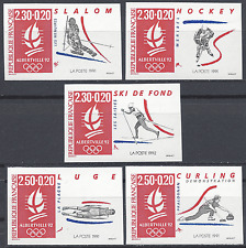 JEUX OLYMPIQUES JO N°2676/2680 TIMBRE NON DENTELÉ IMPERF 1991 - NEUF ** LUXE MNH
