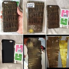 HANDMADE 100% GENUINE BRONZE COLOR ALLIGATOR LEATHER iPHONE 6/6s COVER CASE