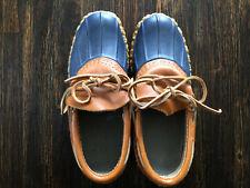 LL BEAN Bean Boots Rubber Mocs - Navy Low Rain Shoe - Women's 5