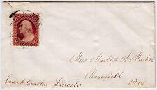 #26A-3 Cents 1857, 13L10L, ex-Starnes, to Martha Martin care of Erastus Lincoln