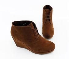 Bottines S. oliVER Fermeture à lacets knöchelhoch simili cuir velours marron taille 39