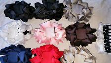Joblot 20pcs silk Medium Flower Design  hairclips hairgrips NEW wholesale lot M