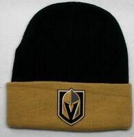 READ LISTING! Vegas Golden Knights HEAT Applied Flat Logo on Beanie Knit Cap hat