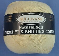 Cream 4 ply Crochet or Knitting Cotton