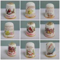 Caverswall Thimble Collectors Club TCC Vintage Porcelain Bone China Christmas