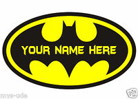 """+BATMAN Logo """"Personalized"""" Iron On Transfer For WHITE Color T-shirt.+"""