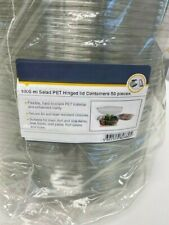 Salad PET Hinged Lid Containers 1000ml