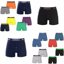 2 x Boxed Lonsdale Boxers 3XL XXXL Boxer Shorts Black Red Navy White