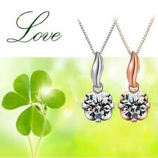 Fine Jewelry Lucky Grass Pendant Necklace Lovers Necklaces Manually Set Auger