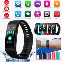 Wristband Blood Pressure Oxygen Heart Rate Smart Watch Bracelet Fitness Tracker