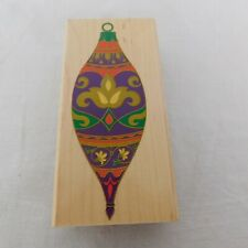 Rubber Stampede Wood Mounted Rubber Stamp Spindle Ornament A1041F Christmas