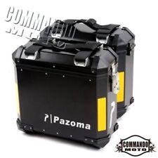 1 Pair Black Side Box Case Pannier Luggage Saddle Bag Universal For BMW F800 GS