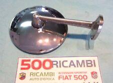 FIAT 500 GIARDINIERA EPOCA SPECCHIO ROTONDO CROMATO RETROVISORE ATTACCO A VITE