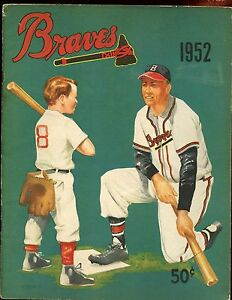 1952 MLB Baseball Boston Braves Yearbook VGEX+