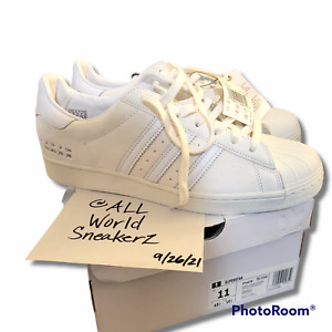 adidas SuperStar 'Size Tag' Suede Off White FY5478 US 11 UK 10.5 EU 45.5 Trainer