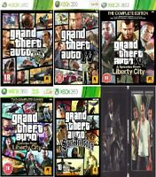 GRAND THEFT AUTO GTA 4 5 Xbox 360 IV V LIBERTY CITY Complete Ed SAN ANDREAS Xbox