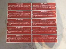 Lot of 10 Warning Safety Sign