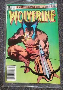wolverine #4 1982 mini series frank miller