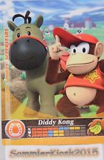 Diddy Kong Reiten No. 045 Mario Sports Superstars Amiibo Sammelkarte Cards 3DS
