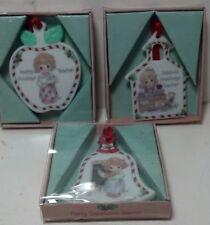 Precious Moments Season's Greetings Teacher Porcelain (3 different) ornaments