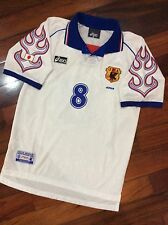 Japan soccer jersey World Cup 1998, France 98, Fire Flame, NAKATA, White, Size M