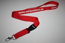 Www.wickerklinik.de Wicker Hospital Lanyard/Lanyard NEW!!!