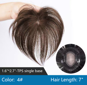 """100% Virgin human hair topper hairpiece wiglet head top loss cover clip in 7"""""""