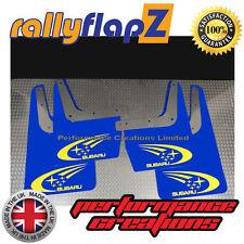 SUBARU IMPREZA Classic (93-01) GC8 Mudflaps 4mm PVC Blue 'Swoosh & Stars' Yellow