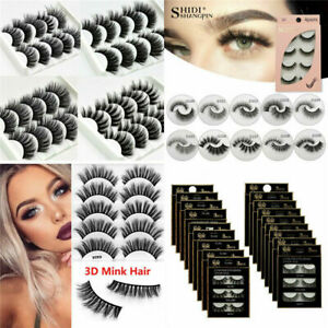 Pure 3D 100% Mink Soft Long Natural Thick Make-up Eye Lashes False Eyelashes