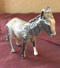 Vintage Hard Plastic Grey Donkey Toy - 2-1/2