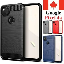 For Google Pixel 4a Case Carbon Fiber Protective Shockproof Soft TPU Cover