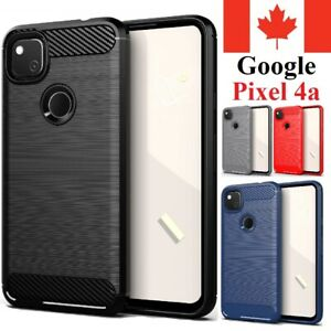 "For Google Pixel 4a (4G) 5.8"" Case Carbon Fiber Protective Shockproof TPU Cover"
